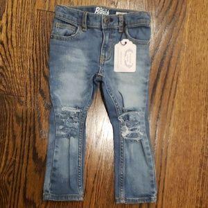 NWT Toddler Distressed B'Gosh Skinny Jeans